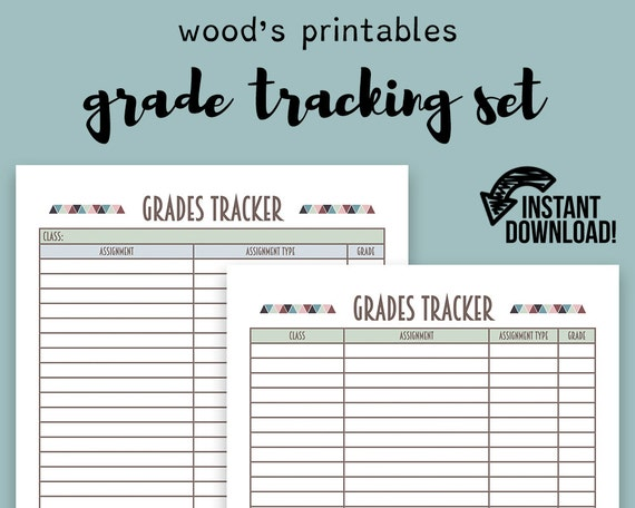 grade tracking pdf printable binder printables grade book