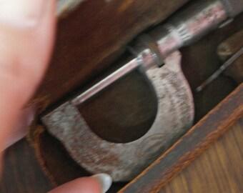 vintage boxed micrometer