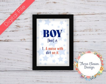 Boy Definition Printable Wall Art