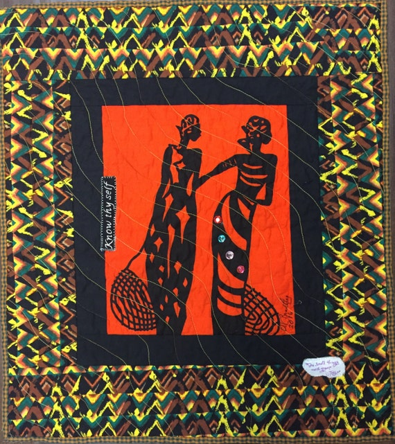 A Woman of Sophisticated Substance #12 art quilt