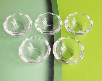2/4 pcs.Miniature Acrylic Bowl,Miniature Bowl,Miniature food Bowl,Dollhouse Bowl,Dollhouse Food Bowl,Miniature Tray,Dollhouse food,Dollhouse