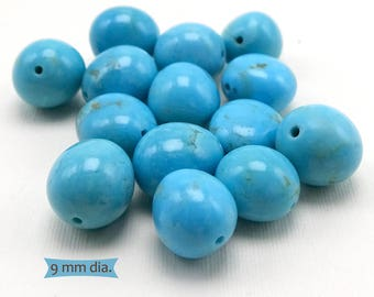 Smooth Edge Genuine Turquoise Nugget Beads--1 Pc. | KM-C5C-1