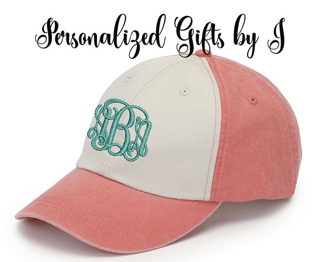 Bridesmaid Hat Gift, Baseball Cap, Monogrammed Hat, Groomsman Gift, Personalized, Monogrammed Baseball hat , embroidered