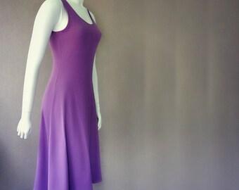 Organic long slip dress with in-build shelf bra, long dress, maxi dress, organic cotton dress, handmade women's clothing
