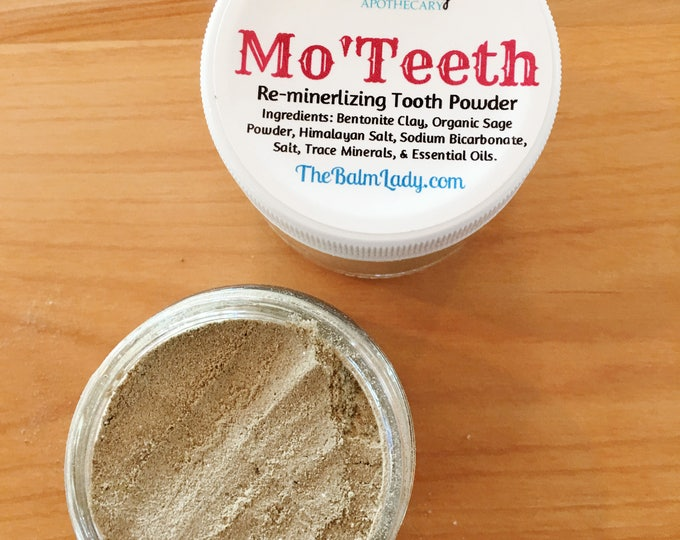 Remineralizing Tooth Powder, 2 oz | Mo' Teeth Whiten and Remineralize Naturally | Dental Care, Dirt Tooth powder, natural tooth cleaning