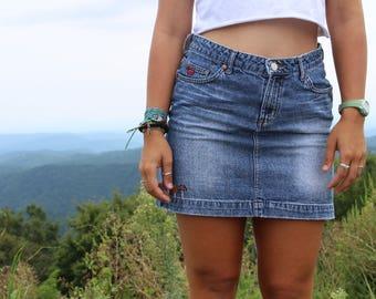 Upcycled Hand Embroidered Skirt