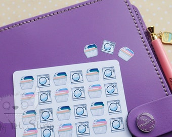 24 Washing Planner Stickers! watercolour/MATTE/stickers/SET
