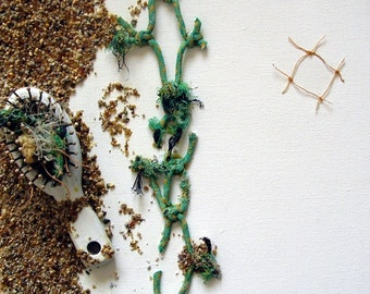 Flotsam and Jetsam Sea Collage on Box Canvas