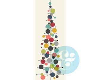 Mid Century Modern Christmas Tree Digital Download