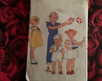 70's Vintage Childs Sailor Suit and Dress