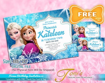 Frozen party invite Etsy