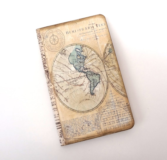 Map travel journal old world map travel notebook compass map travel journal old world map travel notebook compass journal eco friendly vacation journal travel log travel diary gumiabroncs Gallery
