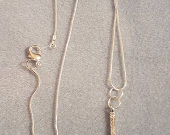 Diamante charm chain / diamante rod chain / diamante necklace