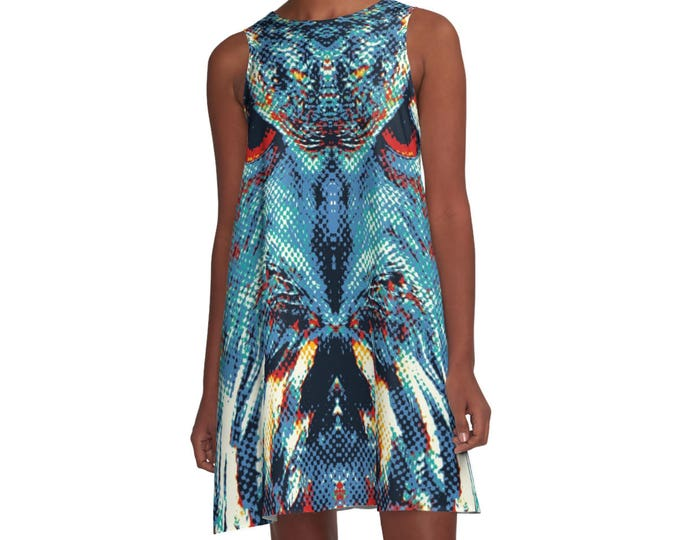 Owl Woman Dress - Colorful Animals