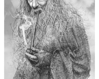 I am a Wizard mind you Giclee print of a pencil drawing