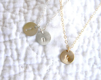 Add Initial Disc / Personalized Jewelry / Personalized Gift