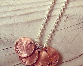 Lucky Penny Necklace-Family Jewelry-Mothers Necklace