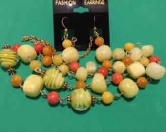 Lemonade/Orange Necklace Set
