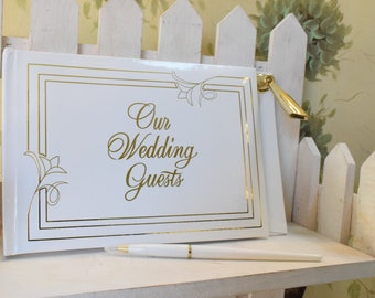 Vintage Wedding Guest book, Guest Book, Repurpose guest book