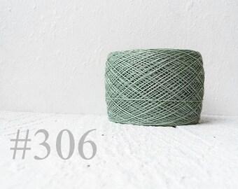 Laceweight Linen yarn - light khaki green # 306