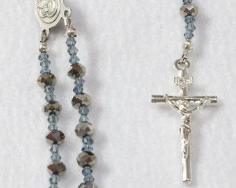 Car rosary...one decade rosary... rosary bracelet...R-11013