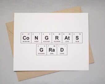 Graduation Congratulations Periodic Table of the Elements