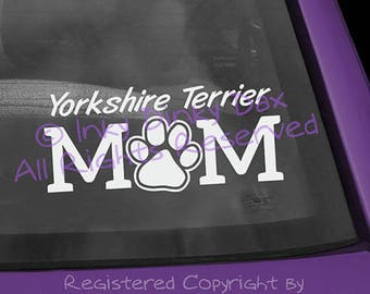 Yorkshire Terrier Mom Pawprint Decal
