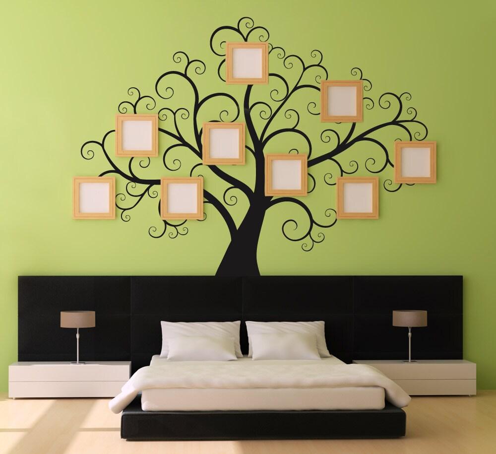 Adesivi di Swirly TreeWall grande Decal per camere da letto