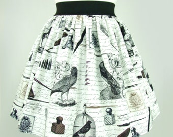 Nevermore A-line pleated  Skirt