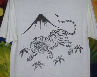 "VINTAGE!!! Cheswick By""SUGAR CANE"" Tiger T-Shirt"