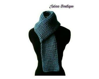 Peacock blue scarf