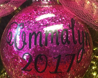 Customized Glitter Christmas Ornaments