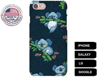 Koala Phone Case, Phone Case Koala, Koala iPhone Case, Koala Galaxy Case, Koala Google Pixel, iPhone 6s Plus Case, iPhone 5 Case, Galaxy S7