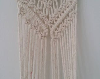 Macrame medium plant hanger wall hanging boho