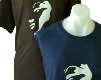 Cool Men's T-Shirt - Buddah Face 100% Australian Made Cotton Size  2XL Navy Blue