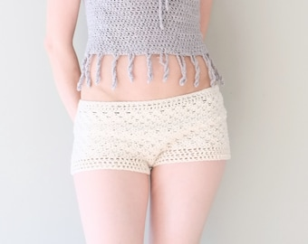PATTERN Beach Bikini Shorts Pantie /  Pattern PDF - Instant Download / Detailed Instructions In English For Crochet Shorts