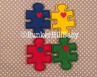 Autism Feltie Puzzle Piece 4 piece uncut