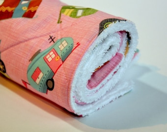 Dish Mat for Drying Dishes Kitchen Towel Retro camping camper glamping colorful dishmat