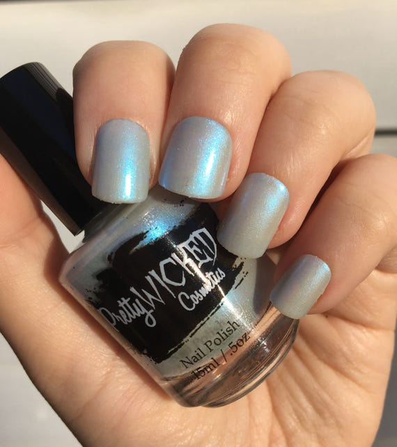 Pale Blue Nail Polish, Emma Nail Polish, Frost Blue Nail Polish ...