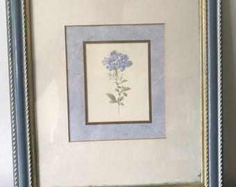 Very nice blue & gold framed flower