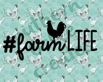 Farm Life Vinyl Decal