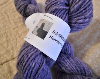 Handspun Merino Wool Yarn 200 yds. Lavender