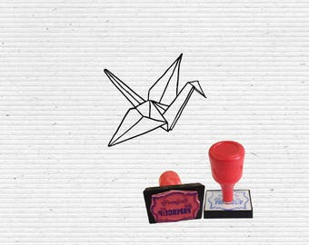 Origami Crane Craft Stamp for Scrapbooking, Cardmaking and Papercrafting