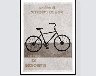 Ladri di biciclette (The Bicycle Thief) Minimalist Alternative Movie Print & Poster