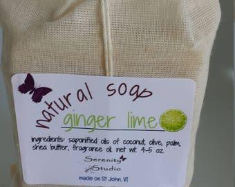 Homemade Soap , Organic Soap, Natural Soap, Handmade Soap, Ginger Lime
