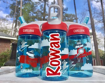 Kids Camelbak, AIRPLANE BANDITS Camelbak, Water Bottle, Daycare, Personalized Sippy cup, Childs cup with name, Ring Bearer, Flower Girl gift