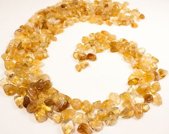 4oz Natural tumbled Citrine stone-Polished Citrine stone -Citrine gemstone-High quality (A)-Anti Anxious-Meditation gemstone- jewelry making
