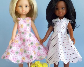"Dresses from the collection ""Olenka"" for dolls of Paola Reina type 32 cm. Patterns and tutorials. Pdf"