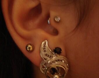 German  filgree clip on earrings