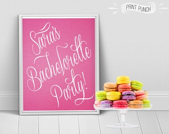 Custom Bachelorette Party Printable, perfect for bridal showers, lingerie showers, weddings etc!  8x10